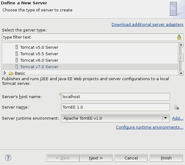 New Server Dialog